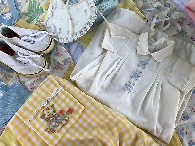 29 VTG Baby Romper Child Clothes Pajamas Footed Flaws NB-6T 1940s-60s Mix Lot