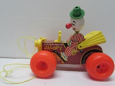 Vintage 1965 FISHER PRICE Pull Toy--JALOPY