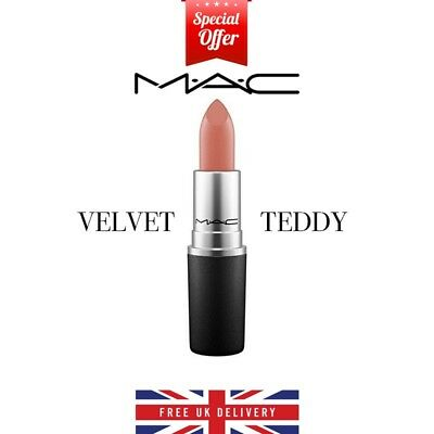 Mac 👄 Velvet Teddy 💄 Matte Lipstick 🔥 Full Size, 100% Brand New Uk Seller