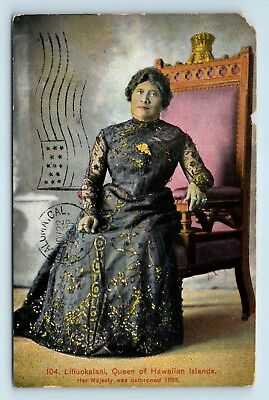 Liiliuokalani Queen Of Hawaii Postcard - Panama Pacific Expo Cancel - U2