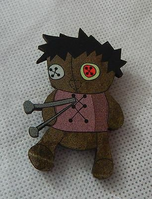 Pin Voodoo Doll Wood Multi-Color Brooch Accessories Fashion Lapel