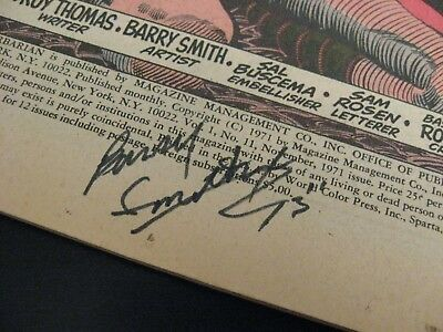 Wow! *Super-Rare* BARRY SMITH SIGNED CONAN #11, Signed at '73 NYC Con—Rare!!!!