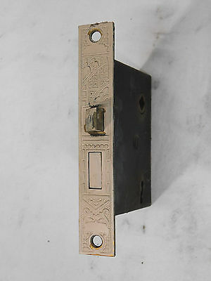 Antique Victorian Eastlake Style Lockset - C. 1885 Brass Architectural Salvage