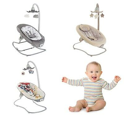 Deluxe Baby Cradling Bouncer Musical Vibration Chair Seat Rocker 12 Melodies