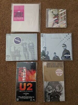 U2 Rare CD Single Lot - Rare Collector's Items, Japanese OBI, 3 Inch CDs, Etc.