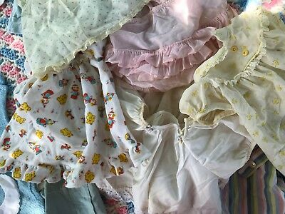 29 VTG Baby Dress Ruffle Romper Sleeper Flaws NB to 4T 1950s-60s Mix Lot