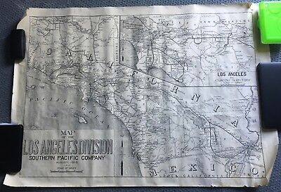 "Map of the Los Angeles Southern Pacific Railroad Routes 1918, 51"" X 36"""