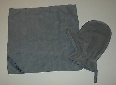 Norwex Gray EnviroCloth and Dusting Mitt 2 Pc Set New Microfiber Cleaning