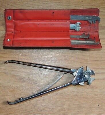 Vintage 9-Prong Pliers and wrenches, Typewriter Repair tools AMES SUPPLY CO