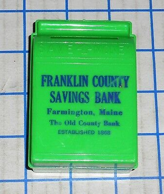 Vintage 1950s Beacon Franklin County Savings Plastic Mail Box Bank VG