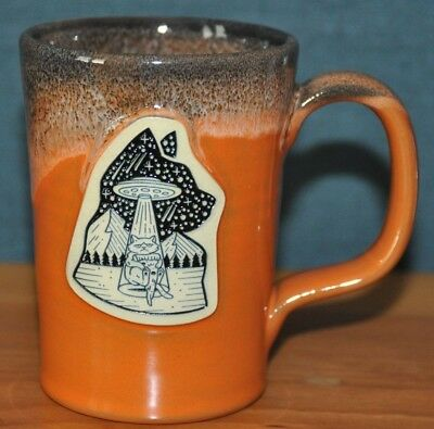 Deneen Pottery Illustrator Series Mug Pizza UFO Space Cat Scotty Russell SIGNED