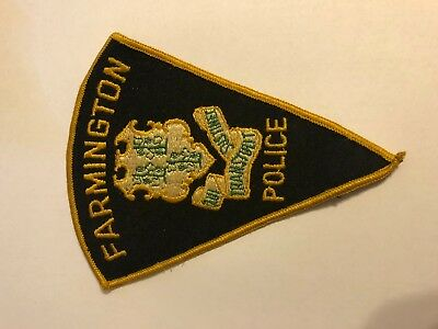Farmington Connecticut  Police Sheriff Patch VINTAGE
