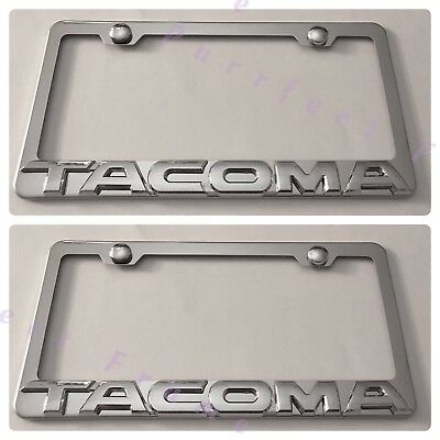 HEMI R//T 3D RAISED Black Stainless Steel License Plate Frame Rust Free With Caps