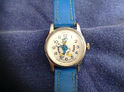 Donald Duck Watch Bradley Swiss Made Walt Disney Productions