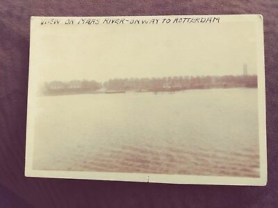 Old Photo View On Maas River On Way To Rotterdam