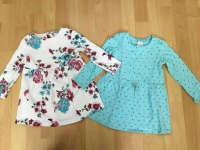 Baby Toddler Girls Kids Tunic Floral and Turquoise Dress Two Items! - Size 2