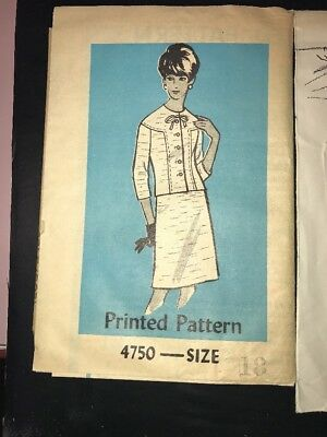 Auntie Anne Pattern 4750 Size 18 Dress Vintage Preowned Sewing clothing wardrobe
