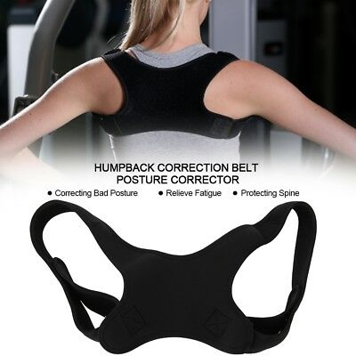 Posture Clavicle Support Corrector Back Straight Shoulders Brace Strap Correct G