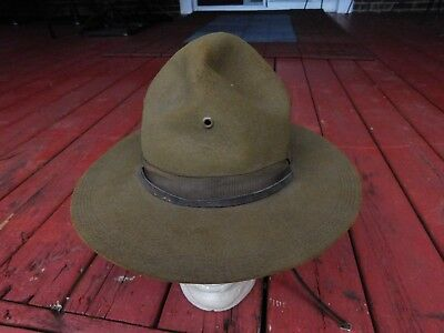 WWI WW1 US Doughboy M1911 Campaign Hat  size 7 GREAT CONDITION