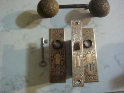 Antique Eastlake Victorian Door Knob Set Corbin