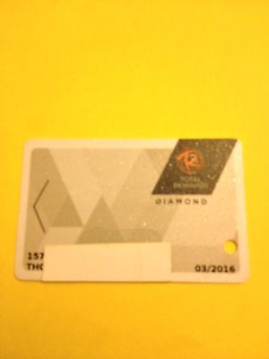 Total Rewards Diamond Card.  Prefix #157 New Design Casino Slot Card