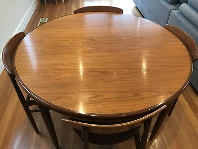 Mid - Century Original G-Plan Extendable Table With Matching Chairs