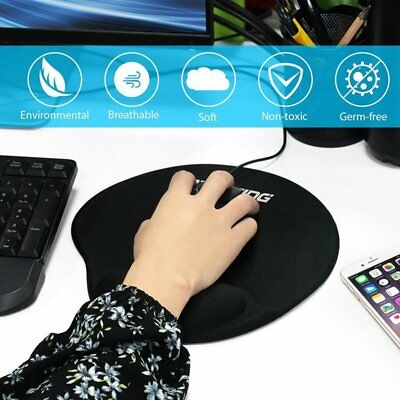 Victsing Gel Mouse Pad Wrist Support /w Non-Slip PU Base Mouse Mat US STOCK