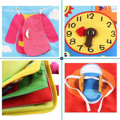 Baby 3D Quiet Book Soft Touch Non-Toxic Cloth Books Early Educational Toy New BS