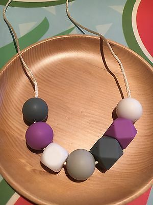 Silicone Sensory Necklace for Mum (was teething) Baby Gift Beads Aus Sale