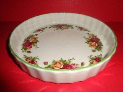 ROYAL ALBERT Old Country Roses BAKEWARE Quiche Baking DISH Multi-Color