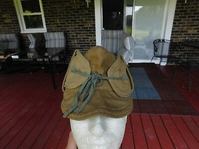 WWI US Military Issue Cold Weather Hat SIZE 7 1/4 Contract 1564 NAMED