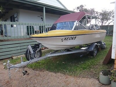 Fishing/ sports 14 ft Monark  Boat with 70hp Johnson outboard