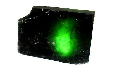 212 Ct Natural Translucent Green Serpentine Earth Mined Facet Slab Rough