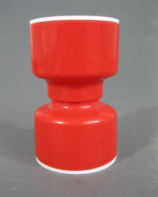 Retro 60s-70s red/white plastic Decor salt /pepper shakers-hourglass-shape