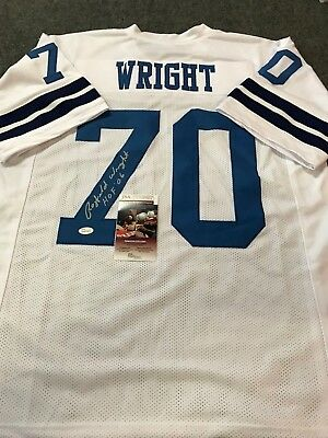 9daf26bff Rayfield Wright Autographed Signed Inscribed Dallas Cowboys Jersey Jsa Coa
