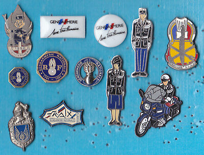 LOT DE 12 PIN'S GENDARMERIE ++++++++++++++++++++ref40+++++++++++