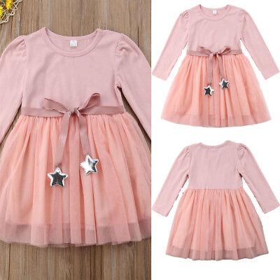 US Seller Kids Toddler Baby Girl Lace Party Princess Tutu Dress Holiday Outfits