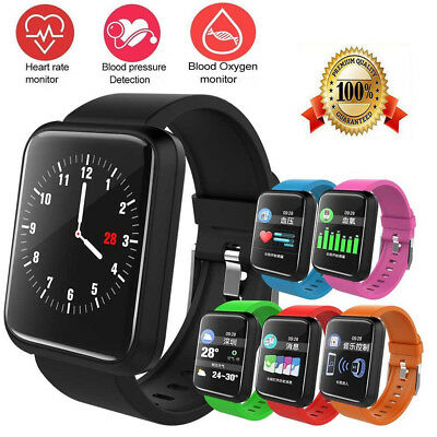 Sport Fitness Tracker Smart Watch Heart Rate Monitor Blood Oxygen Android IOS
