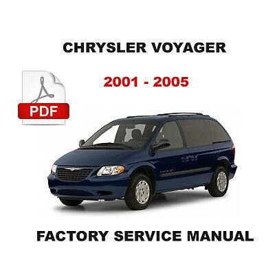 chrysler voyager diesel 2001 2005 factory service repair workshop rh picclick com 1999 Chrysler Voyager chrysler grand voyager 2008 owners manual