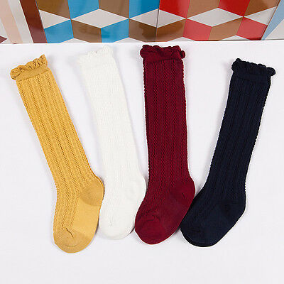 Newborn Toddler knee high sock baby Girls Boys Solid Long Socks Accessories LY