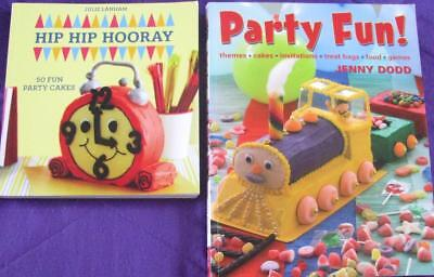 50 FUN PARTY BIRTHDAY CAKES + KIDS PARTY FUN BOOK   x  2 books