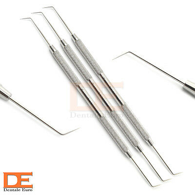 Dental Probe Double Ended Teeth Clean Hygiene Diagnostic Surgical Probe Set Of 3