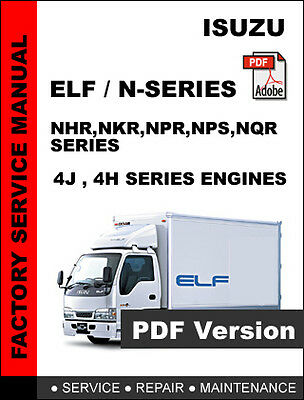 isuzu elf n series truck factory service repair workshop maintenance rh picclick com Isuzu NPR Truck Service Manual Isuzu NPR Parts Manual