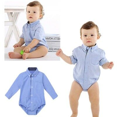 Baby Toddler Casual Shirt Romper Boys Girls Triangle Jumpsuit Playsuit Sunsuit