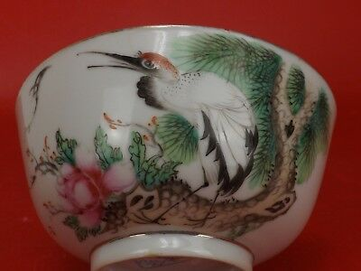 Magnificent Bowl Signed Antique Chinese, Japan Porcelain Hand-Painted Decoration