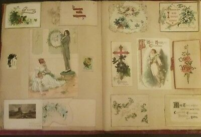 Victorian Scrap Book Picture Stories Scraps & 96 Victorian  Greeting Cards