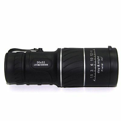 30x52 HD Day & Night Vision Optical Monocular Hunting Camping Hiking Telescope