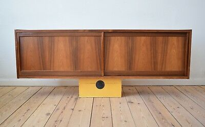 Danish Mid-Century Wall-Mounted Rosewood Sideboard, Erling Torvits 1960's.
