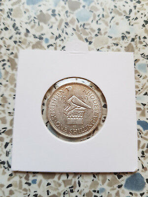 South Rhodesia One Shilling 1939 Amost Uncirculated