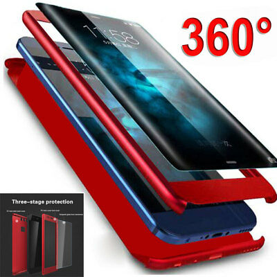Shockproof Hybrid 360 Case+Tempered Glass for Samsung Galaxy A6 Plus J4 J6 Cover